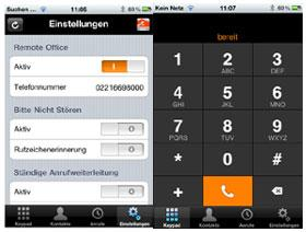 IPfonie centraflex Telefonanlage iPhone/Android App